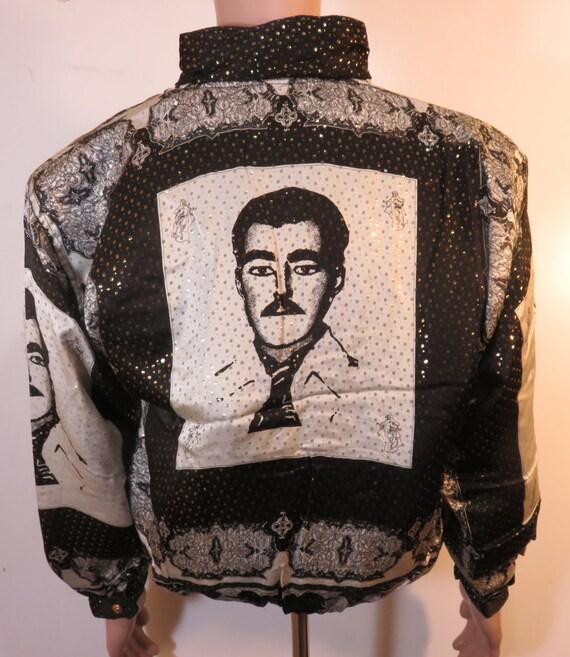 Malverde Vintage 90's Baroque Bomber Jacket Metal… - image 1