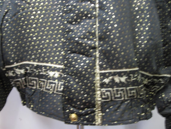 Vintage 1990's Baroque style Bomber Jacket Metall… - image 4