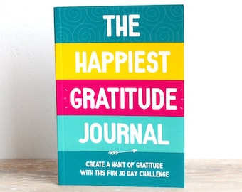 Gratitude Journal, Daily Gratitude, Happy Journal, Positive Inspiration, 30 Day Challenge, Happiness planner, Self Care, Fun journal, Write