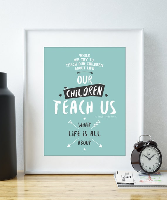 Children Quotes Family Print Mothers Day Quotes New Baby Etsy