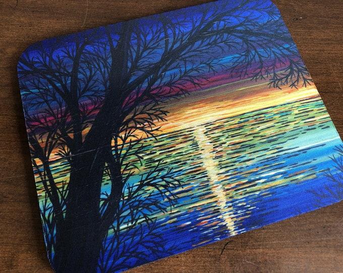 Sunset Tree Mousepad