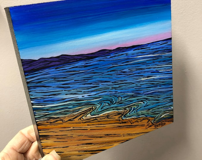 "6x6"" Ocean Sky original acrylic painting by Tracy Levesque"