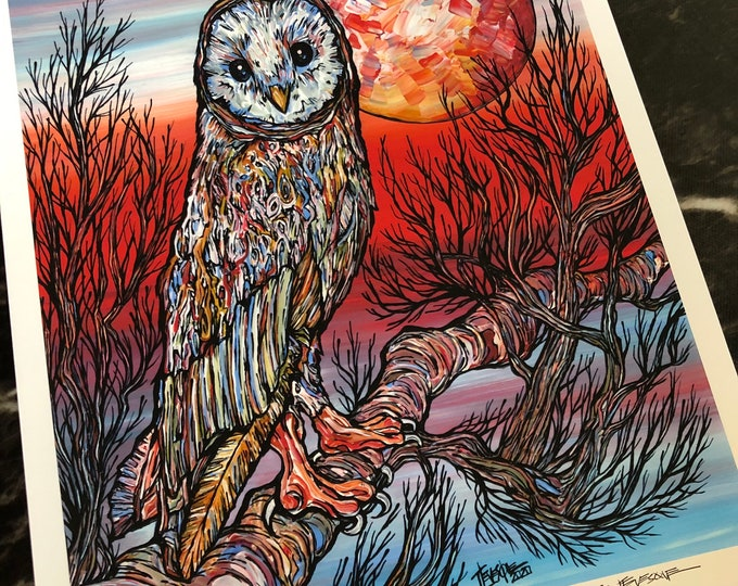 """Keeper of the Dawn, 11x14"""" Fine Art Giclee Print by Tracy Levesque"""