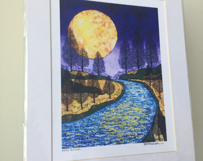 """11x14"""" Matted Giclee Print of Harvest Moon by Tracy Levesque"""