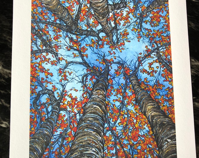 """Autumn Blessing 11x14"""" fine art giclee print on water color paper by Tracy Levesque"""