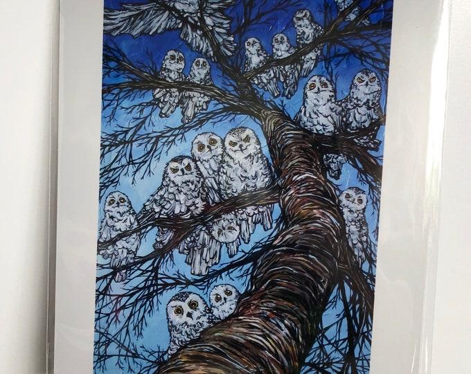 "Owl Tree 8x10"" metallic photographic print by Tracy Levesque"