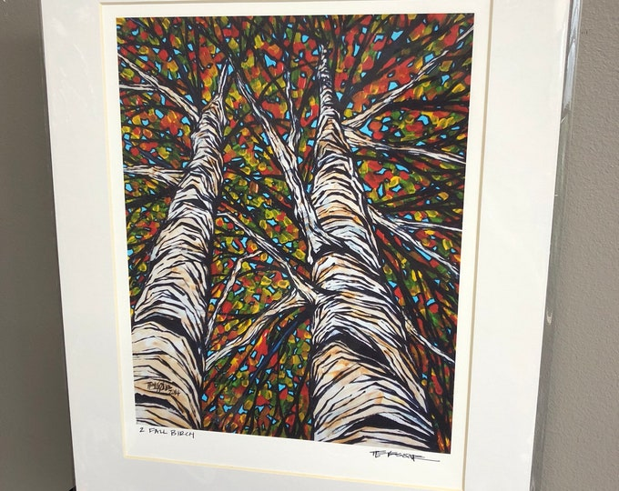 "11x14"" Matted Fall Birch Print by Tracy Levesque"