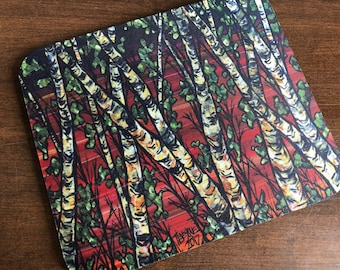 Red Birch Tree Mousepad