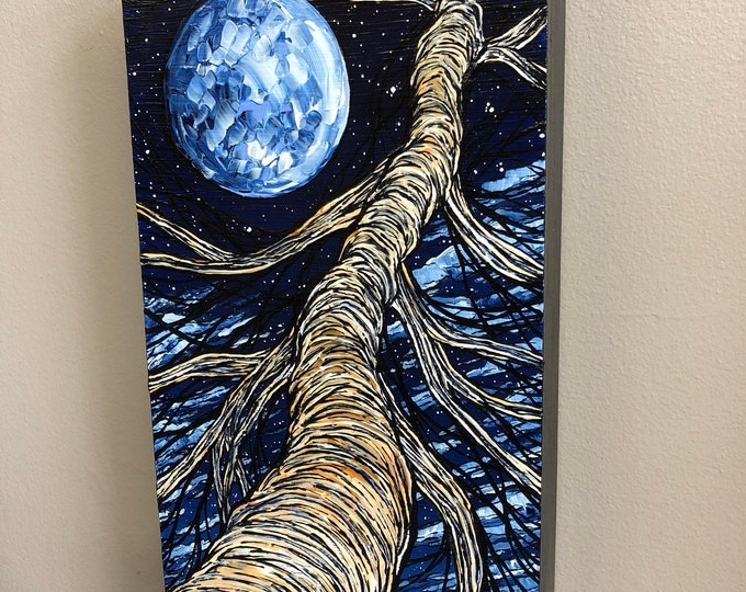 Dreamer's Tree 2, original acrylic painting by Tracy Levesque