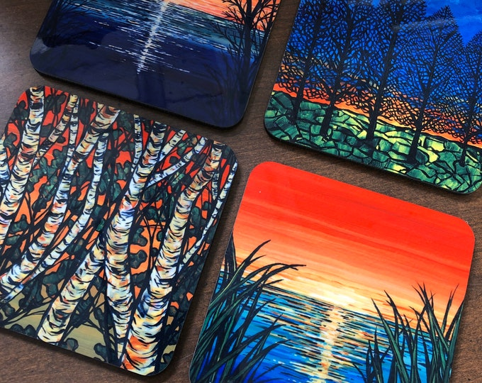 Sunrises and Sunsets Coaster Collection