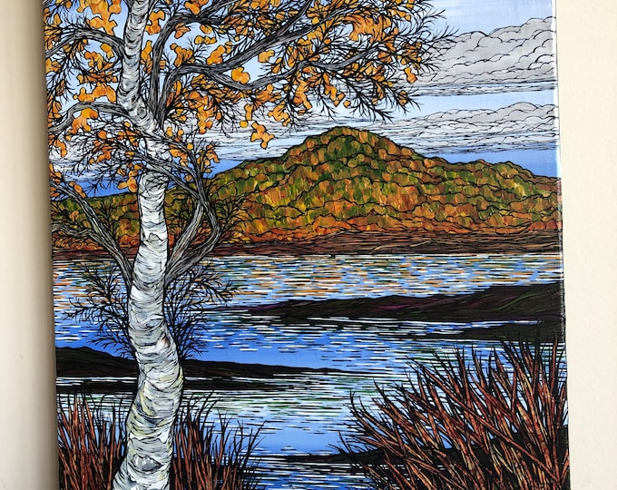 """18x24"""" Fall Foliage in the Berkshires original acrylic painting by Tracy Levesque"""