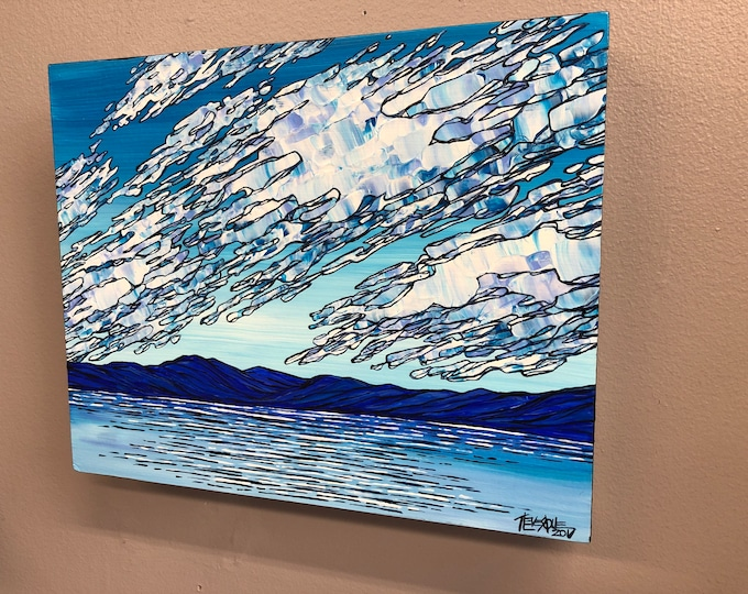Blue Mountain Cloudscape, original painting by Tracy Levesque