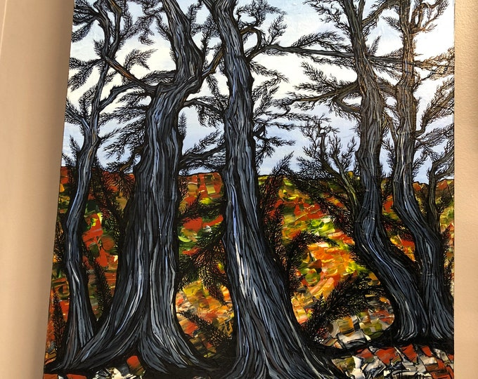 "18x24"" Arboration original acrylic painting by Tracy Levesque"