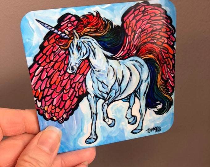 Unicorn Pegasus Coaster by Tracy Levesque