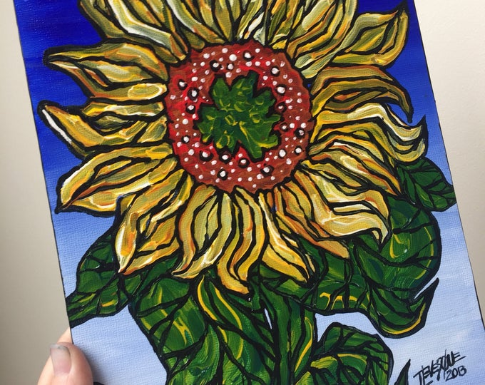 Colorful Sunflower original painting