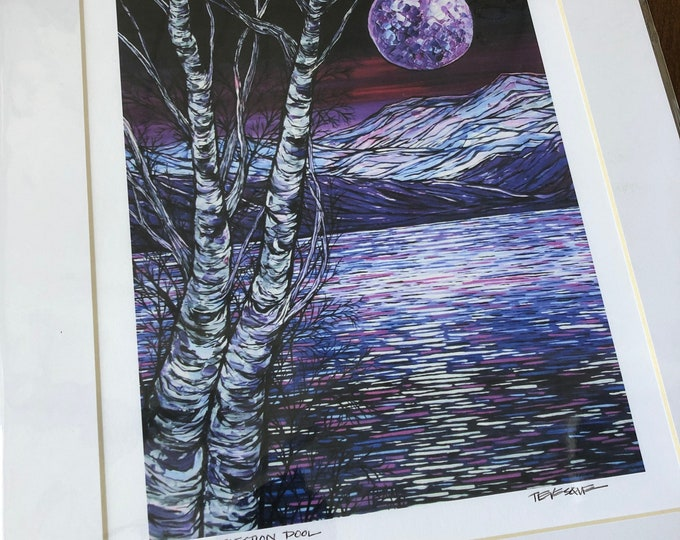 "Birch Reflection Pool 11x14"" matted giclee print by Tracy Levesque"