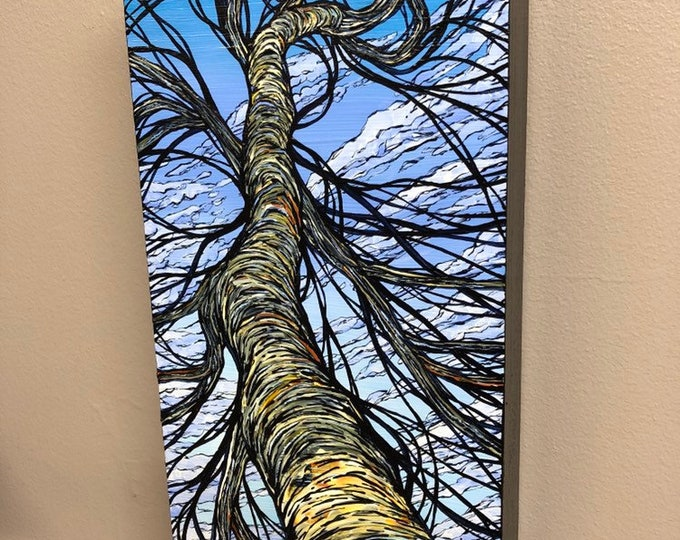 """Poet's Tree 6x12"""" Original acrylic painting by Tracy Levesque"""