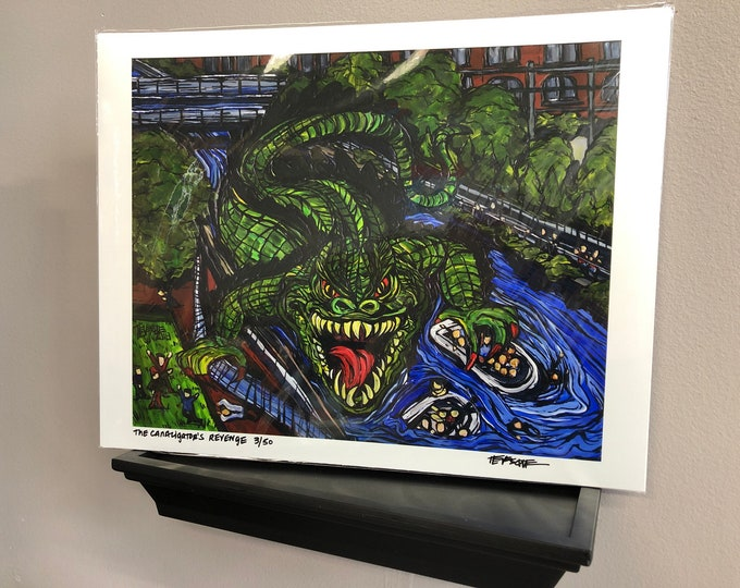 "The Canaligator's Revenge 11x14"" Limited Edition print by Tracy Levesque"
