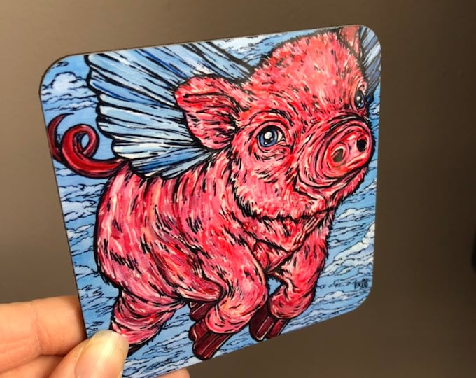 Pigasus Coaster by Tracy Levesque