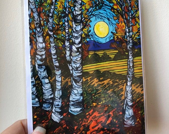 "5x7"" New England Farmlands greeting card featuring artwork by Tracy Levesque"