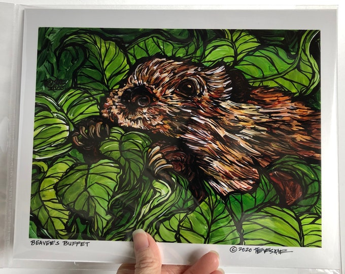 "Beaver's Buffet 8x10"" metallic photographic print featuring artwork by Tracy Levesque"
