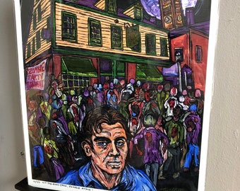 "Hit the Road, Jack Kerouac, Zombie Attack! 11x14"" Limited Edition Metallic Photographic Print by Tracy Levesque"