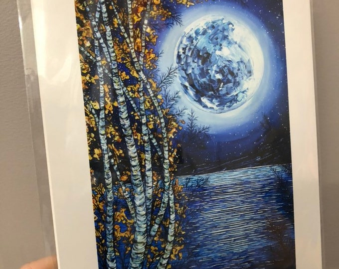 "8x10"" Print Magical Moon Lake by Tracy Levesque"