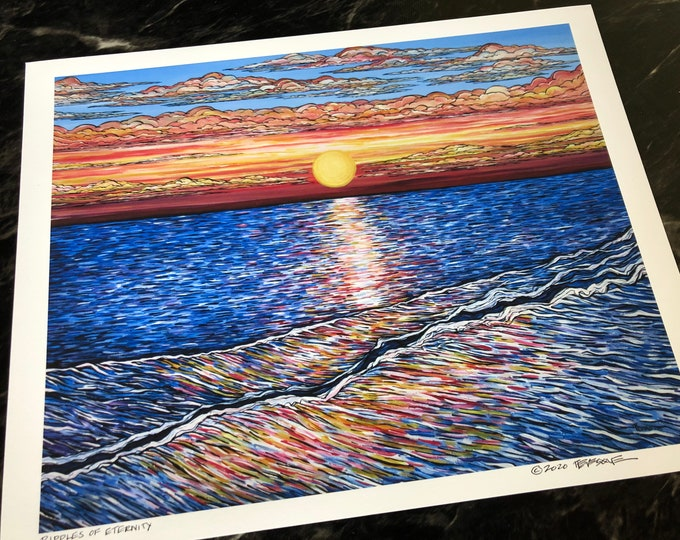 """Ripples of Eternity, 11x14"""" fine art giclee print by Tracy Levesque"""