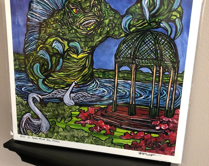 IT Came from Ell Pond Limited Edition Metallic Print by Tracy Levesque