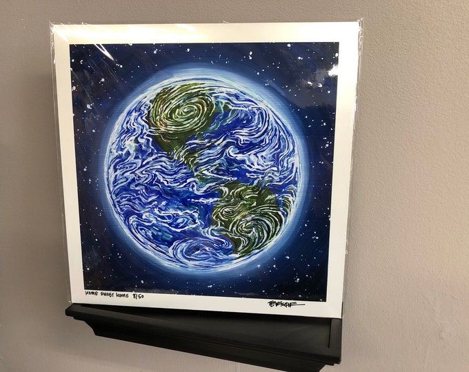 "Earth 12x12"" Limited Edition Metallic Print by Tracy Levesque"