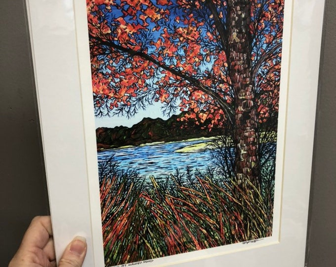 "11x14"" Giclee Print Walk on Walden Pond by Tracy Levesque"