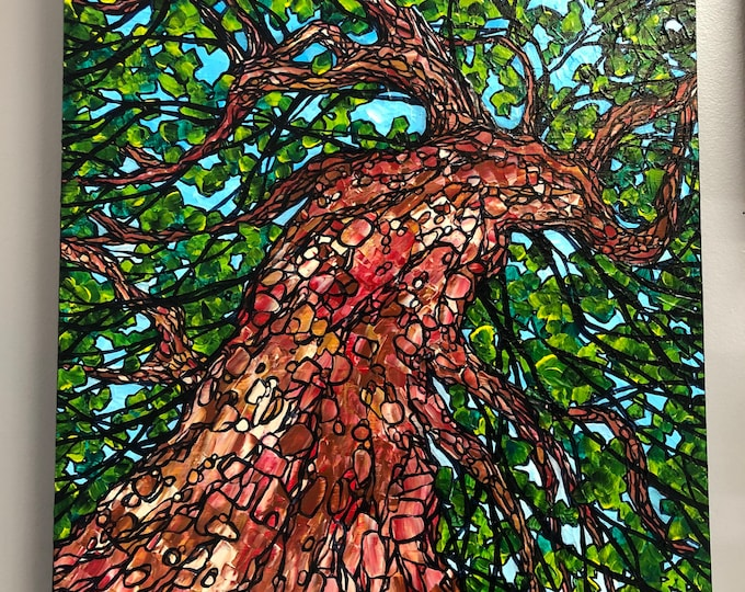 "18x24"" Dance of the Maple Tree original acrylic painting by Tracy Levesque"