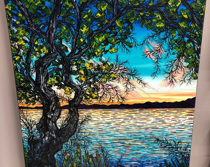"18x24"" A Tribute to Summer original acrylic painting by Tracy Levesque"
