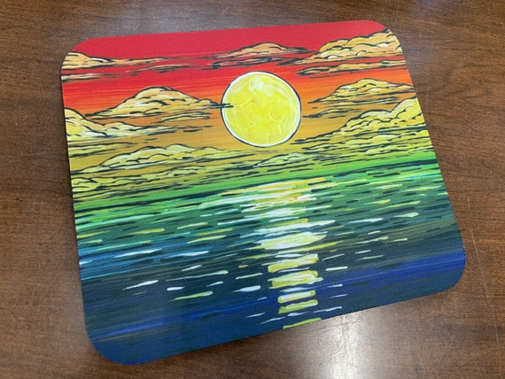 Gorgeous Red Seascape mousepad featuring artwork by Tracy Levesque