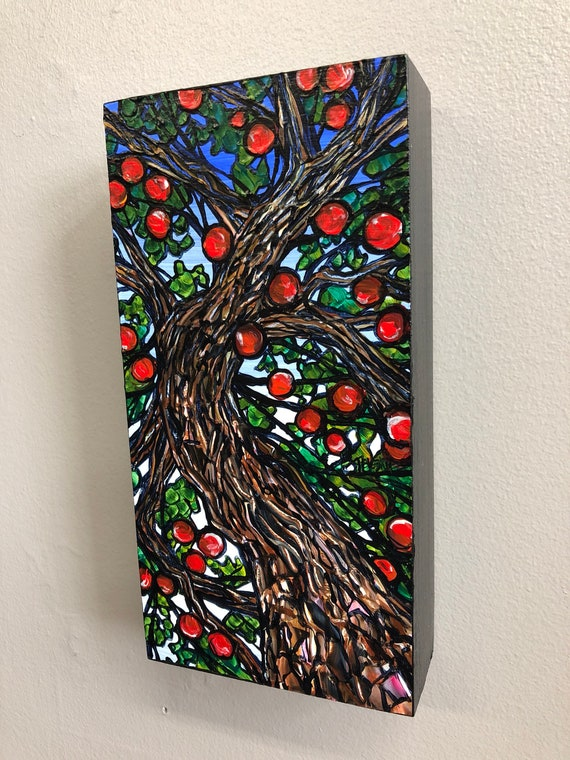 Apple Tree, original acrylic painting by Tracy Levesque