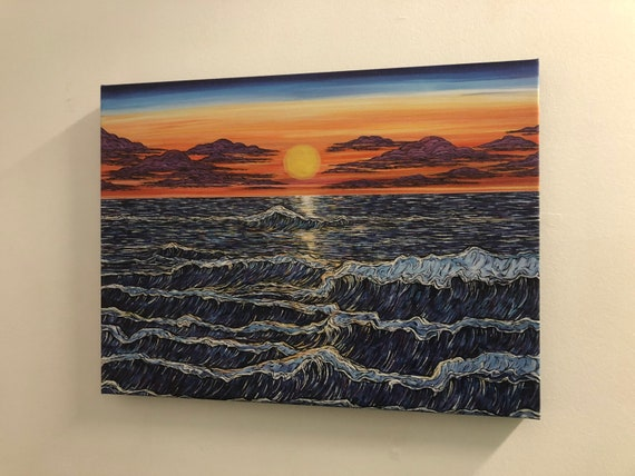 """18x24"""" Giclee Print on Canvas Halcyon Sunset by Tracy Levesque"""
