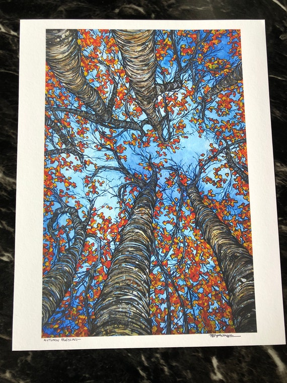 "Autumn Blessing 11x14"" fine art giclee print on water color paper by Tracy Levesque"