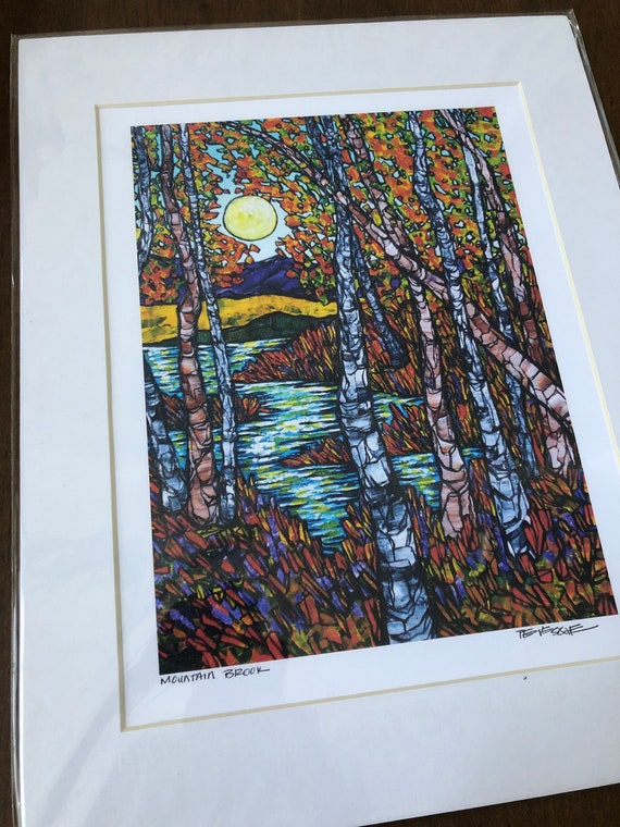 "Mountain Brook 11x14"" matted giclee print by Tracy Levesque (print size is approximately 8x10"" inside 11x14"" mat)"