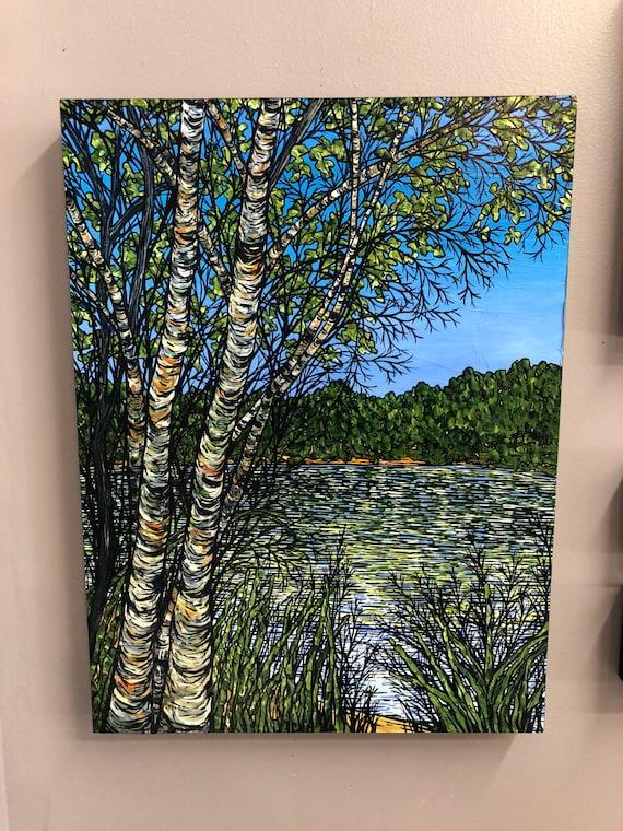 "Springtime Revelation, 18x24"" Original Acrylic Painting by Tracy Levesque"
