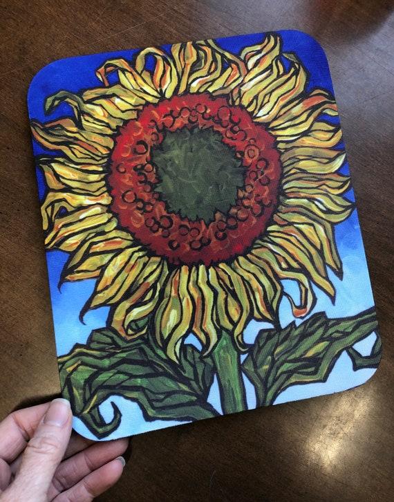 Happy Sunflower Vibrant Flower Mousepad
