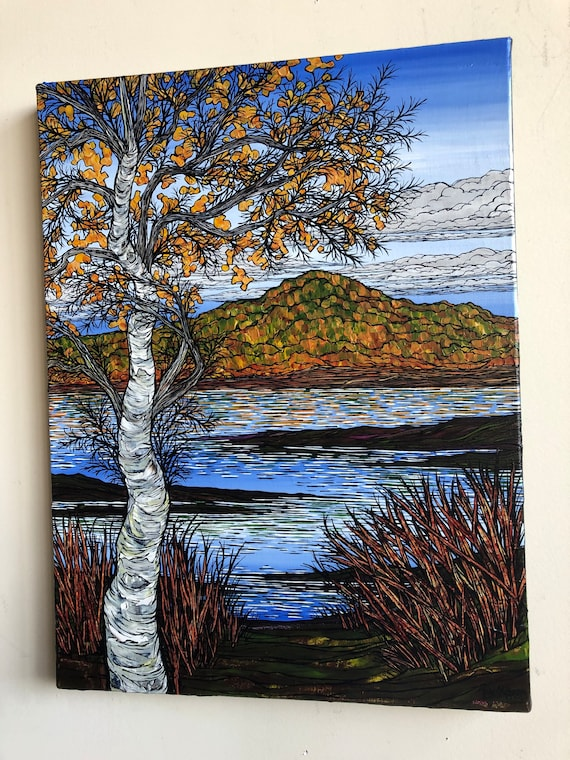 "18x24"" Fall Foliage in the Berkshires original acrylic painting by Tracy Levesque"