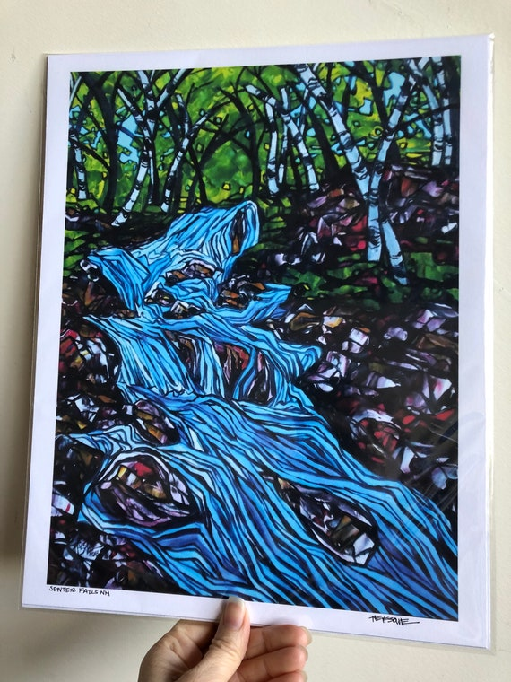 "11x14"" Senter Falls New Hampshire Waterfall Giclee Print by Tracy Levesque"