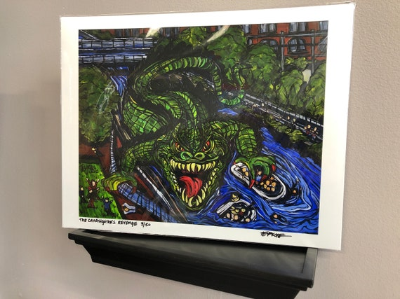 """The Canaligator's Revenge 11x14"""" Limited Edition print by Tracy Levesque"""