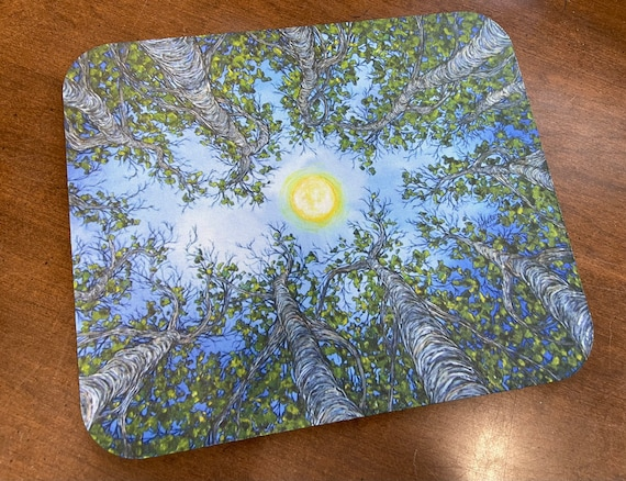Looking Up the Trees mousepad featuring artwork by Tracy Levesque