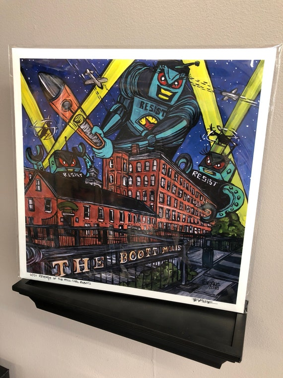 Revenge of the Mill Girl Robots, Limited Edition Signed Metallic Print by Tracy Levesque