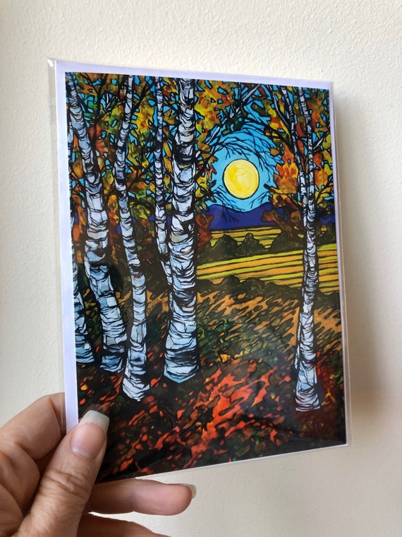 """5x7"""" New England Farmlands greeting card featuring artwork by Tracy Levesque"""