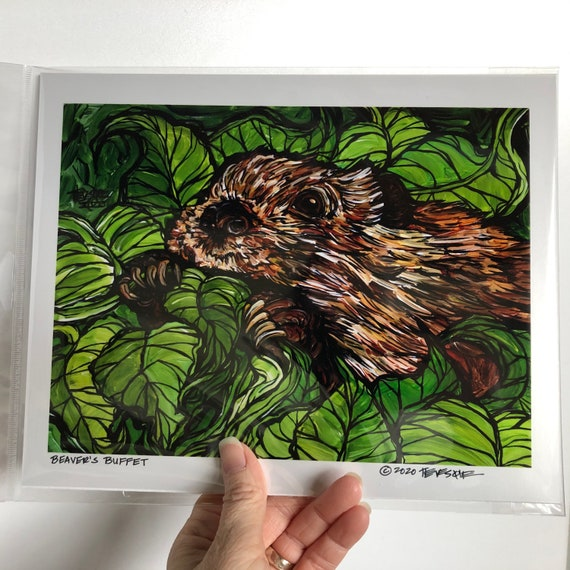 "Beaver's Buffet 8x10"" photographic print featuring artwork by Tracy Levesque"