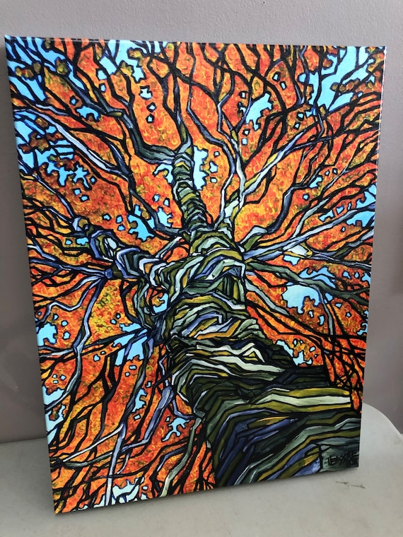 """18x24"""" Fall Tree Giclee on canvas by Tracy Levesque"""