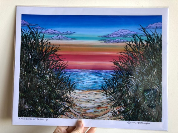 "11x14"" Giclee print of Sand Dunes of Paradise by Tracy Levesque"
