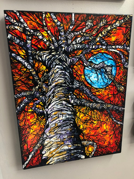 """Monster Tree, 18x24"""" Original Acrylic Painting on canvas by Tracy Levesque"""